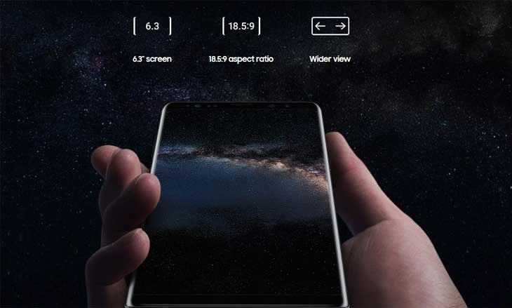 galaxy note 8 screen