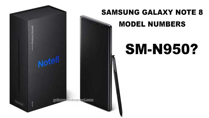 galaxy note 8 model numbers