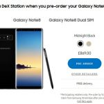 Unlocked Galaxy Note 8 Pre-Order live in the UK