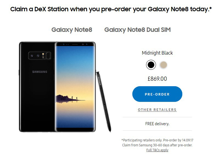 unlocked galaxy note 8
