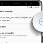 activate do not disturb mode on galaxy note 8