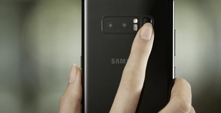 enable fingerprint scanner on galaxy note 8